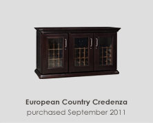 European Country Credenza Wine Cabinet