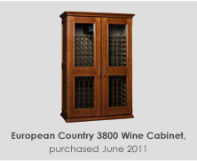 European Country 3800 Wine Cabinet