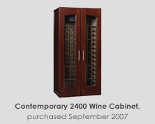 Contemporary 2400 Wine Cabinet