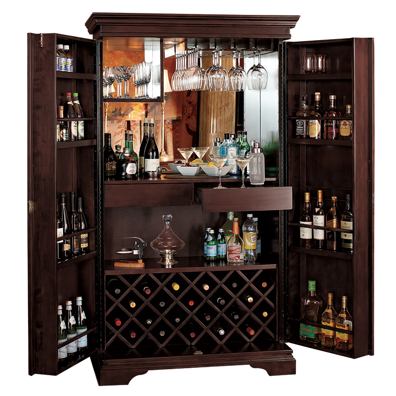 Charmant St. Helena Hide A Bar Wine Furniture Chocolate #2325